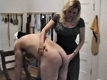 Over her knee4. Skirts disciplining naughty charge OTK with different implements and bare hands