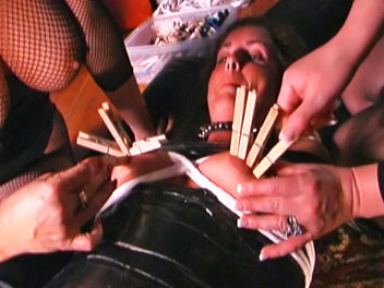 Breaking the rules2. Irene shares a girl for some inescapable bondage, tit torture, smothering, breast worship with the slave girl