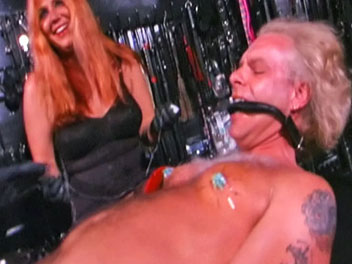 Piercing specialist2. He is forced to wear a spiked CBT shield on his pathetic penis