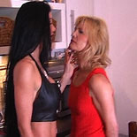 Womans place2. Carmen puts this slut in her place - hands and knees ad whipped in the kitchen