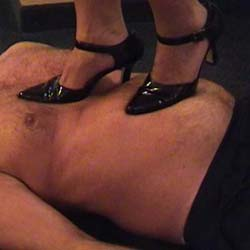 Best of trample 26. Oh! The pain, as dominatrix tramples her slave both shod and barefoot and jumps off the furniture to land heavily on him