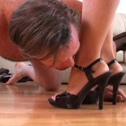 Best of trample 61. A woman tramples a man while wearing heels, which he worships, and while barefoot, when she pays particular attention to trampling his cock