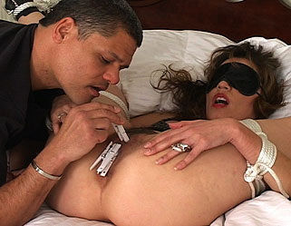 Latino lustyoung latino ties up anglo milf and shows her what passion is about.