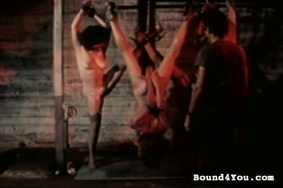 Servile sluts tied. These ladies have been to the land of missionary positions and they are truly bored.