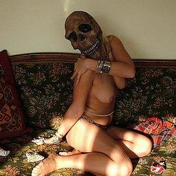 Jade gagged and chained  blonde beauty bears the brunt of dom s cruelty. Blonde beauty bears the brunt of dom's cruelty