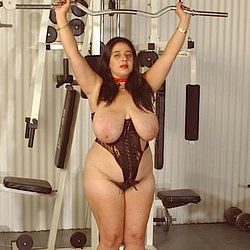 Tanya tuna 2  bigboobed hefty badass mama is all roped up. Big-boobed, hefty bad-ass mama is all roped up
