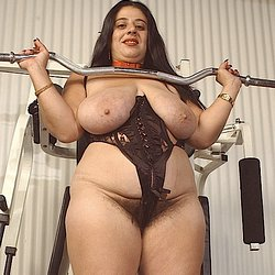 Tanya tied gym extreme. BBW with large natural tits is tied up at the gym