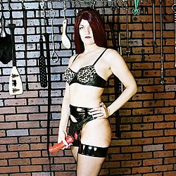 Dildo in the dungeon  a dildo is the most good of the implements an auburnhaired gal has to deal with down in the dungeon. A dildo is the most nice of the implements an auburn-haired gal has to deal with down in the dungeon