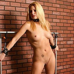 Jenni lee 3. This bound blonde keeps gnawing at her bonds, trying in vain to escape