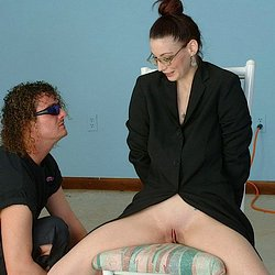 Kelli brandon. Studious-looking young woman cannot resist her Dominant, who has tied her to a chair