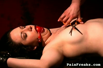 Latex freaks. Two slutty freaks turn each other on with tormented