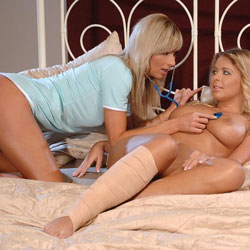 Doctor s soothing hand  this lascivious and sultry doctor arrives to check up on kelly s hurt leg and comfort her with soothing attention   the doctor s protocol starts with a basic examination that soon focuses on kelly s swollen full tits and puffy silk. This lascivious and sultry Doctor arrives to check up on Kelly's hurt leg and comfort her with soothing attention.  The Doctor's protocol starts with a basic examination that soon focuses on Kelly's swollen full tits and puffy silken pussy.  After insuring that her patient's recovery is near complete, the doctor treats her to a soothing sponge bath, followed by a tender warm water douche accented with her dancing fingers.  Kelly is rendered clean inside and out.  But the Doctor is overcome by Kelly's luscious fully body and smooth shapely curves.  She indulges herself with a tasty delight that has Kelly swooning in ecstasy and culminating in a long overdue orgasm.  At Kelly's suggestion the Doctor allows her patient to sample some professional passion with the tip of her tongue.  When both are well satisfied, the Doctor bids her patient adieu and promises another check up very soon.