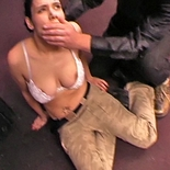 Back to taming room  babe with soft round breasts gets tied up and abused. Babe with soft round tits gets tied up and abused