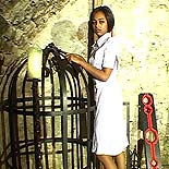 Servile ebony slave. Meek sub is coerced into pleasing her overseer as she endures his abuse
