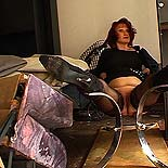 Tubby plumper degraded  auburnhaired fatty suffers tormented at the hands of a massive dominatrix. Auburn-haired fatty suffers tortured at the hands of a hard femdom