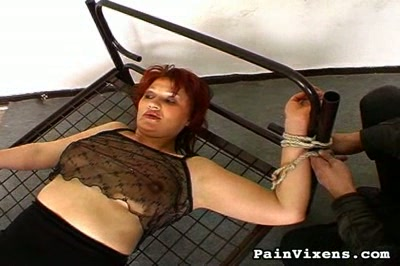 Milf bondage. Mature babes get tied down and violated