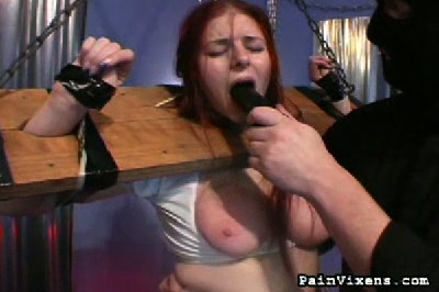 Abused schoolgirl  bondage slut alice gets her boobs abused and her vagina dildofucked. Bondage slut Alice gets her boobs abused and her pussy dildo-fucked