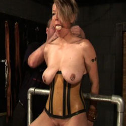 Unique breast tieup  an extra tie makes this video unusual. An extra tie makes this video unusual