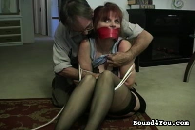 Submitted to office molest. She was thrilled and scared senseless but she never uttered a word as he tied her up and proceeded to punish her pussy.