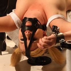 Lezdom nipple torture. Sasha Knox is addicted to mistress MISSogynys deft hand and skill at sensual Lezdom device torture. After getting her booty and pussy totally dominated her first time in mistress,s dungeon, Sashas slave training today is going to focus on nipple torture.