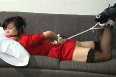 Asian amateur babe in bondage  there was no time for yoko to take off her tight fitting red dress and take off those lusty black stockings and high heels. There was no time for Yoko to take off her tight fitting red dress and take off those lascivious black stockings and high heels