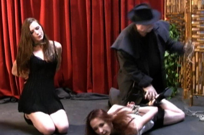 Bondage video with sasha. These poor babes are They are lying on the floor face down thinking about what is going to happen to them and the best thing about this situation is that their master has no idea what he is gonna do to them