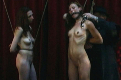 Sasha and delilah tied up. Slutty Sasha and Delilah are always ready for all kind pf punishment and the only thing they want is to feel the pain as soon as possible.