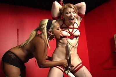 Horny slave roped  the rope was cutting across her small boobs and her mistress even made sure to clamp those nipples up for more tit punishments. The rope was cutting across her small tits and her mistress even made sure to clamp those nipples up for more tit punishments