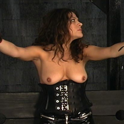 Hannah is ready for extreme bondage. Leather, boots and a lot of BDSM devices... That is what Hannah loves more than anything