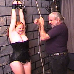 Betty deserved extreme punishment. Betty is a excited red hairy fat babe who loves to wear leather tops and boots and she loves to be treated with no respect