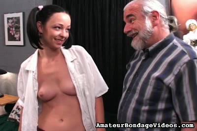 Sexy hottie punished. Her shaved beaver is already dripping wet and that means that Maria is in for the night of butt spanking