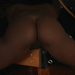 Foxy black babe. Flogging her black ghetto pussy is what this master loves to do more than anything and he is very pleasant at it