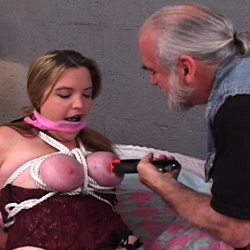 Bdsm roping  jennifer s boobs turned red because of the ropes but that is nothing in comparison to what her master plans to do to her. Jennifer's boobs turned red because of the ropes but that is nothing in comparison to what her master plans to do to her.
