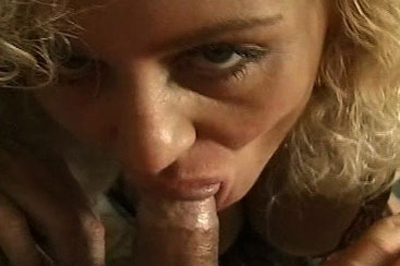 Prepared for the big cock sucking. Woman first takes to the cigarette to ensure she's got a hot and smokey mouth before going down.