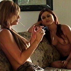 Always sexier in pairs  two best friends spend a little quality time hanging out in stockings while sharing a smoke. Two best friends spend a little quality time hanging out in stockings while sharing a smoke.