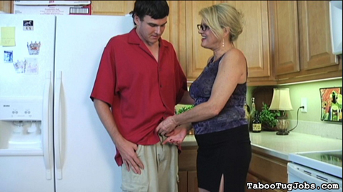 Mrs  lee loves young cock 15. Mrs. Lee is expecting her groceries to be delivered any second. The new, and young, delivery boy that shows up puts a smile on her face. She thinks he's pretty and she loves young guys.