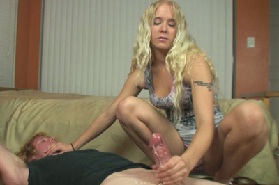 Dick jerking queen 15. This cock handling Queen does it for the cum, so she keeps her yanks quick and intense. Blackmail is extremely fun.