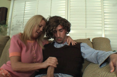 Marcia rushes puberty 52. Marcia knows how to rush the man out of any guy. She gets Peter alone, pulls down his pants and tugs on his cock.
