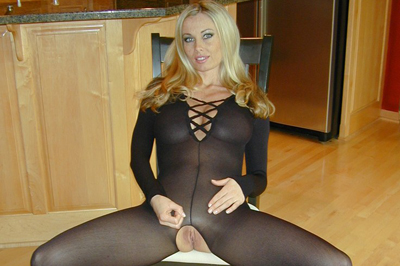 Anita dark offers teasing jerkoff instruction 90. Anita is feeling exciting and domineering and she wants to see her in a skintight body stocking. Her full breasts push out against the sheer nylon, and her cunt is on full display in the crotchless hose. She taunts you with her cunt...it is right there but you cannot touch it.