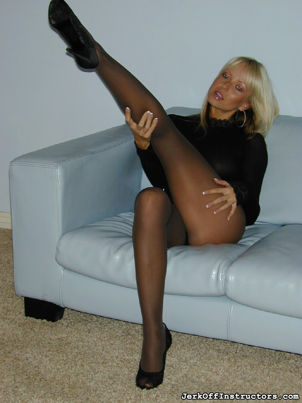 Little tool  in a black body suit and black pantyhose jana cova towers over you are you playing with your little tool she teases. In a black body suit and black pantyhose, Jana Cova towers over you,