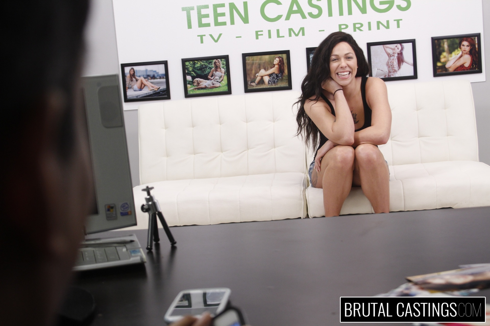 Bdsm casting  with harlow harrison. Harlow Harrison, one cool excited chick, just wants to quit her job for high paid modeling gigs with Teen Castings! She'll do anything to get what she wants. She'll even endure BDSM, domination, rope bondage, deepthroat bj, fingering, squirting, spanking, slapping and violent sex.