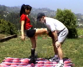 Nuts kicked2  hot dominatrix teaches poor fratboy a lesson. Hot mistress teaches poor fratboy a lesson