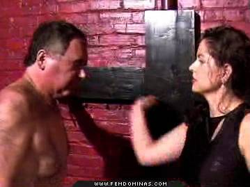 Corset mistress1  young hot mistress in corset beats an old man for being foolish. Young hot femdom in corset beats an old man for being foolish