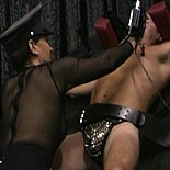 Uniformed punishment4  hot femdom in uniform hangs and punishes manslave. Hot mistress in Uniform hangs and punishes man-slave